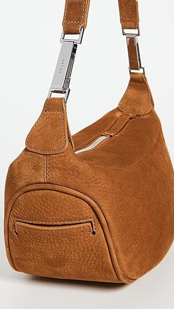 BY FAR Ami Brandy Nubuck Leather Bag
