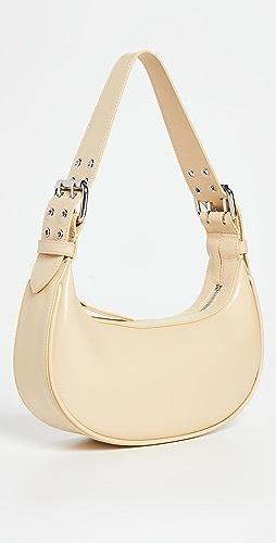 BY FAR - Soho Sand Gloss Grained Leather Bag