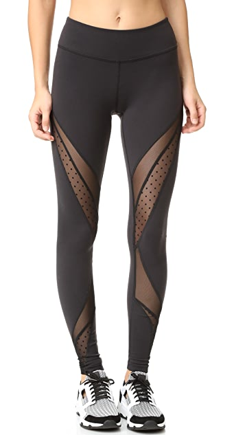 Beyond Yoga Polka Dot Mesh Converged Leggings