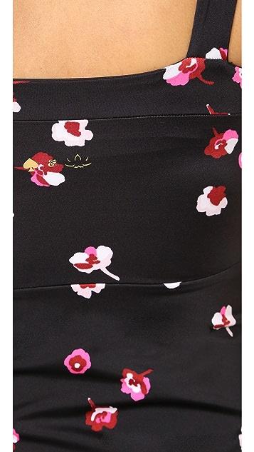 Beyond Yoga Kate Spade New York Falling Floral Peplum Cami