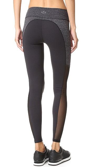 Beyond Yoga Row Pocket Mesh Long Leggings