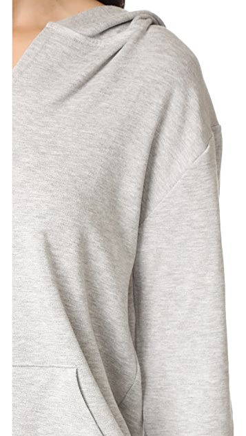 Beyond Yoga Cozy Fleece V Neck Hoodie