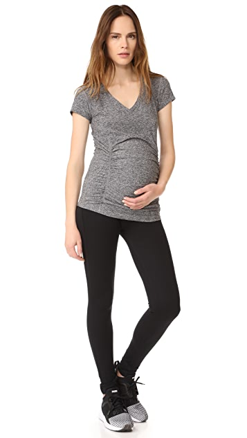 Beyond Yoga Featherweight Maternity V Neck Tee