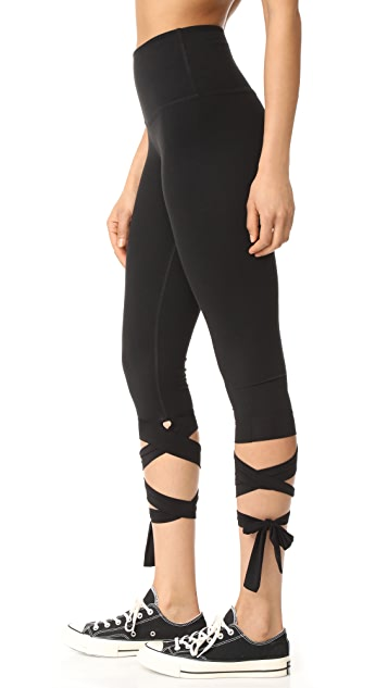 Beyond Yoga Just Your Stripe High Waisted Capri Leggings