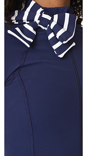Beyond Yoga x Kate Spade New York Sailing Stripe Neck Bow Jacket
