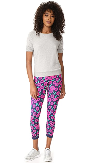 Beyond Yoga x Kate Spade New York Lux Print Lunar Cutout Leggings