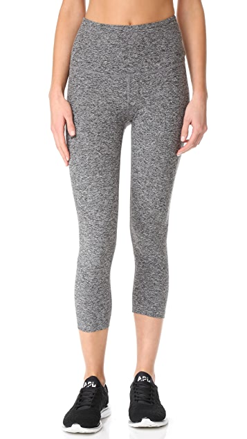 Beyond Yoga High Waist Capri Leggings - Black/White
