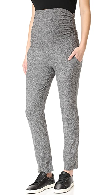 Beyond Yoga Maternity On The Run Pants - Black/White