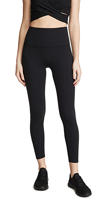 Beyond Yoga Core High Waisted Midi Leggings - Jet Black