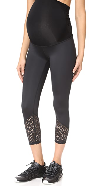 Beyond Yoga Maternity Perfect Cuff Capri Leggings