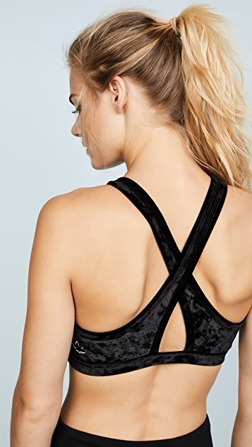 Beyond Yoga Crushed Velvet Studio Bra