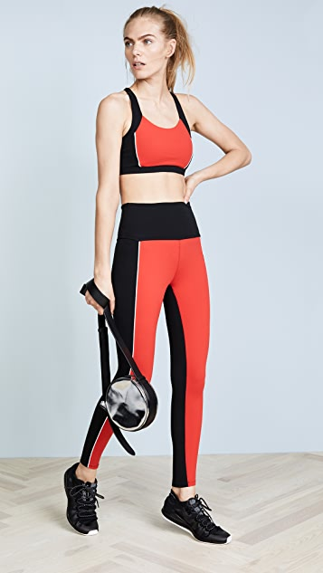 Beyond Yoga x Kate Spade New York Blocked Midi Leggings