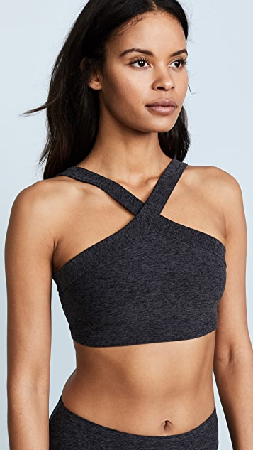 Beyond Yoga High Cut Crisscross Bra