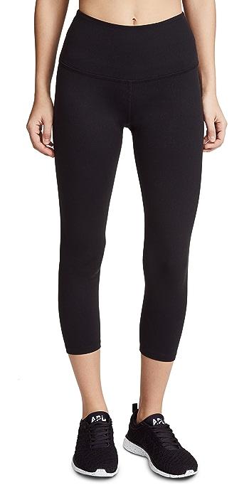Beyond Yoga Core High Waisted Capri Leggings - Black