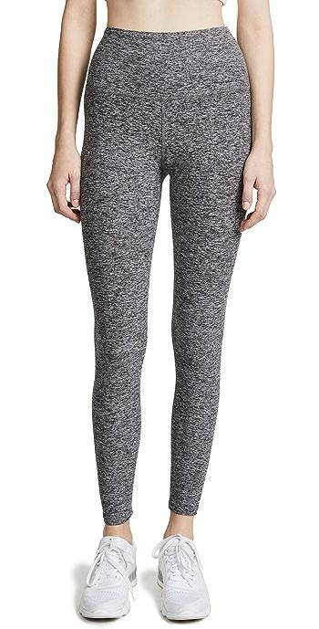 Beyond Yoga High Waisted Midi Leggings - Black/White