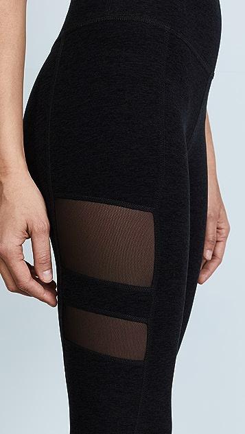 Beyond Yoga Striped Mesh Long Leggings