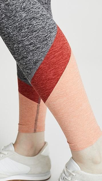 Beyond Yoga Леггинсы с высокой талией из ткани секционного крашения