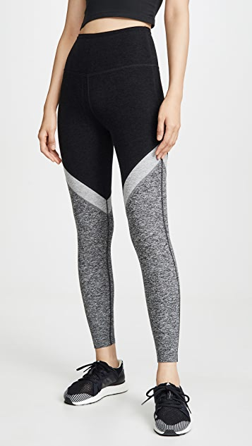 Tri Panel High Waisted Midi Leggings by Beyond Yoga