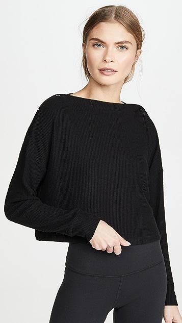 Beyond Yoga Свободный пуловер на пуговицах Your Line