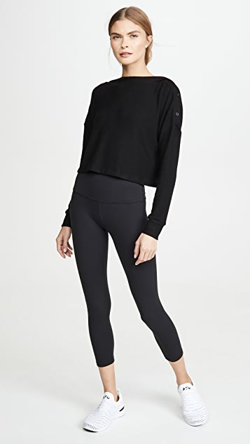 Beyond Yoga Your Line Buttoned Boxy Pullover