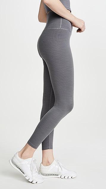 Beyond Yoga 杂色罗纹中长贴腿裤