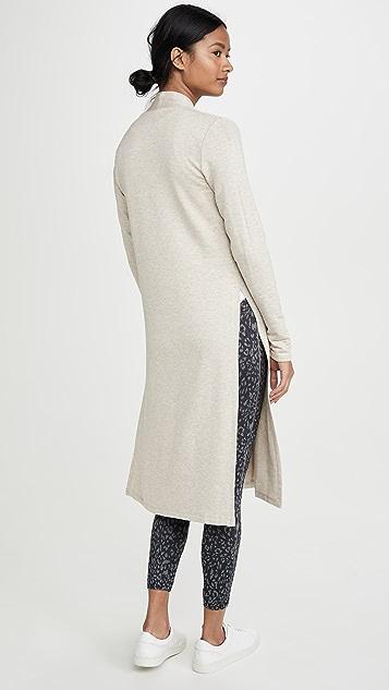 Beyond Yoga Длинное пальто с высокими разрезами
