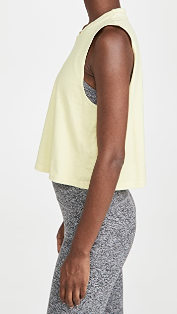 Beyond Yoga Don't Distress Balance Cropped Tank