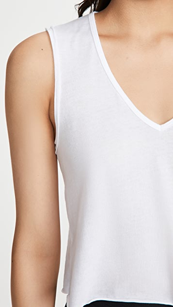 Beyond Yoga In The Fray Cropped Tank