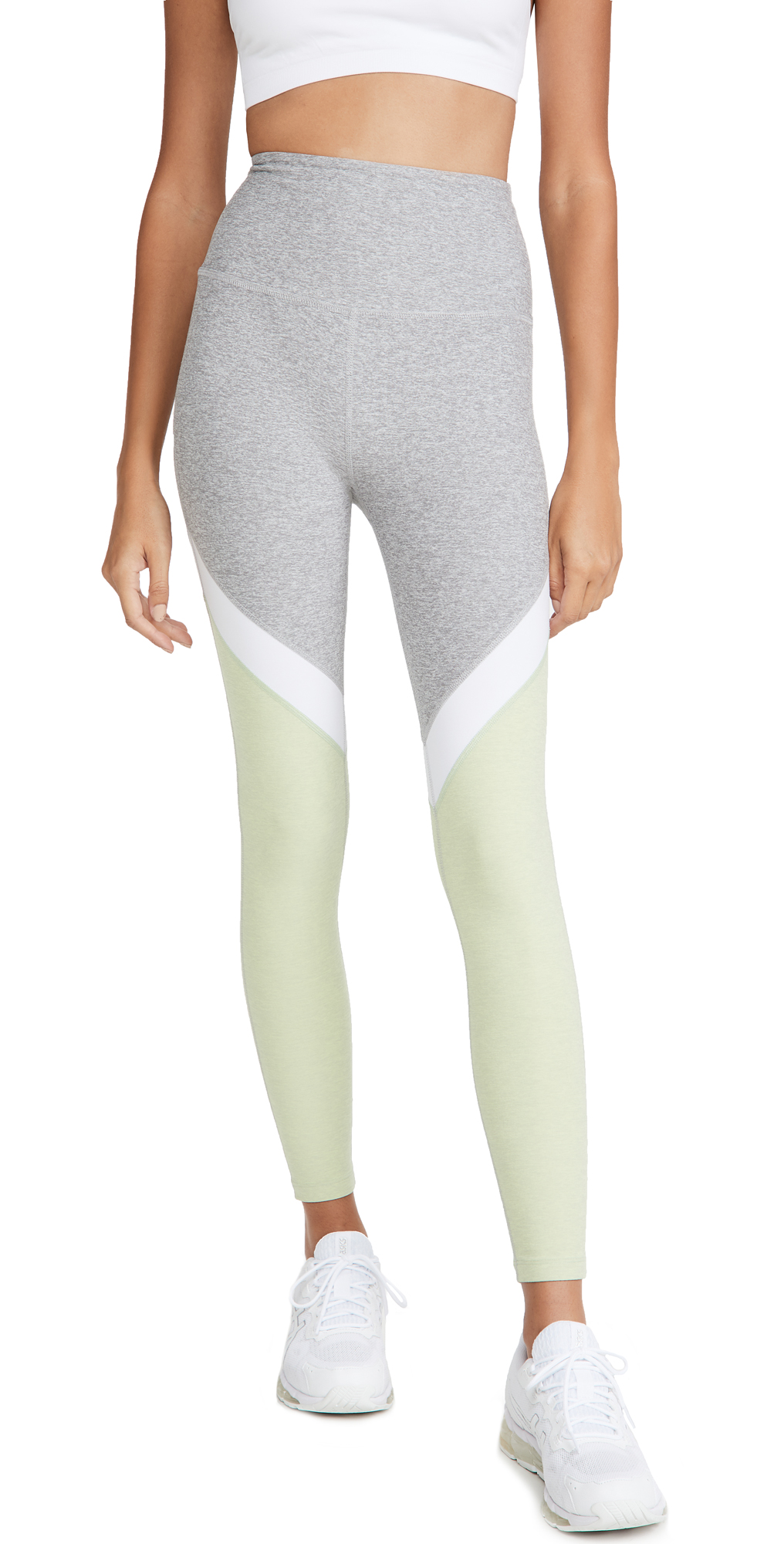 Beyond Yoga Tri-Panel Space Dye High Waisted Midi Leggings