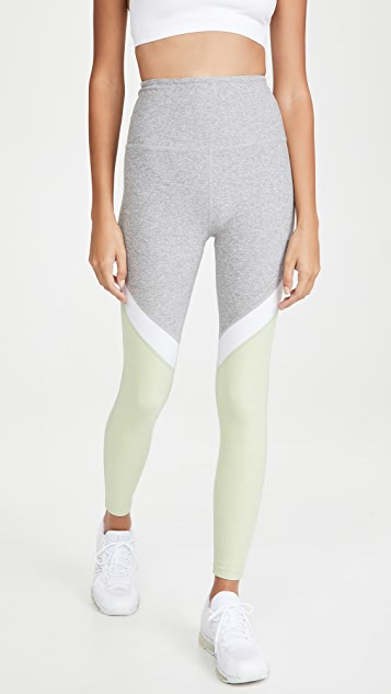 Beyond Yoga Tri-Panel Space Dye High Waisted Midi Leggings