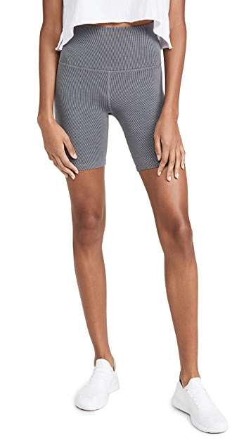 Beyond Yoga Heather Rib Biker Shorts