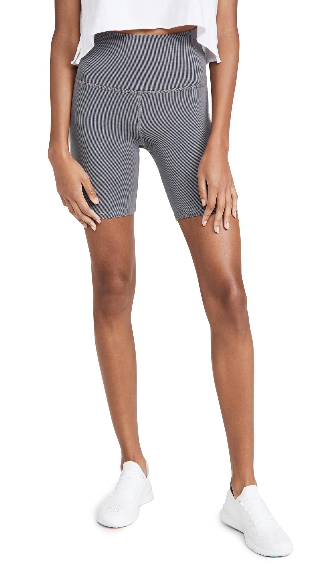 Beyond Yoga Heather Rib Biker Shorts
