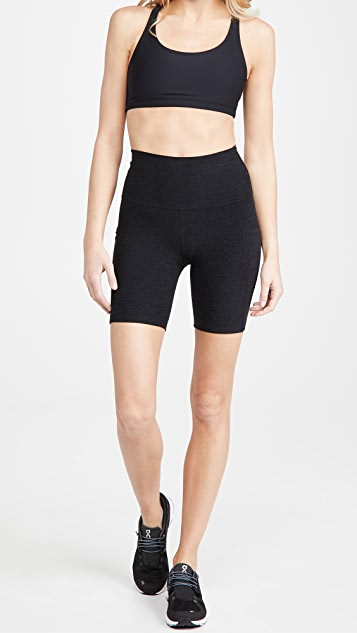 Beyond Yoga Spacedye Pocket High Waist Bike Shorts