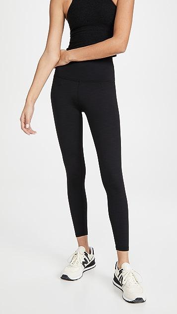 Beyond Yoga 杂色罗纹贴腿裤