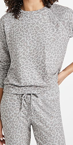 Beyond Yoga - Printed Favorite Raglan Crew Pullover Sweatshirt