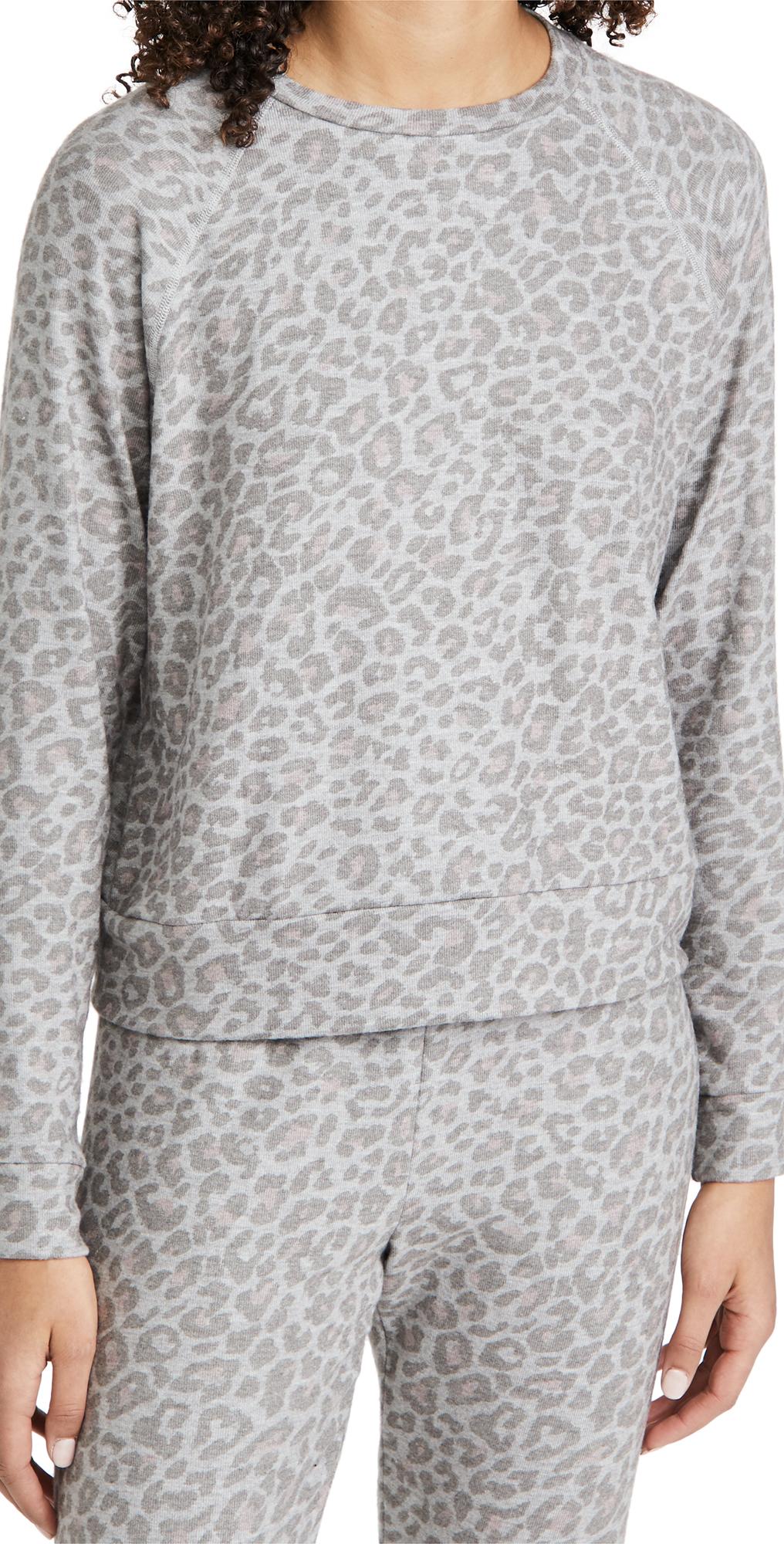 Beyond Yoga Printed Favorite Raglan Crew Pullover Sweatshirt