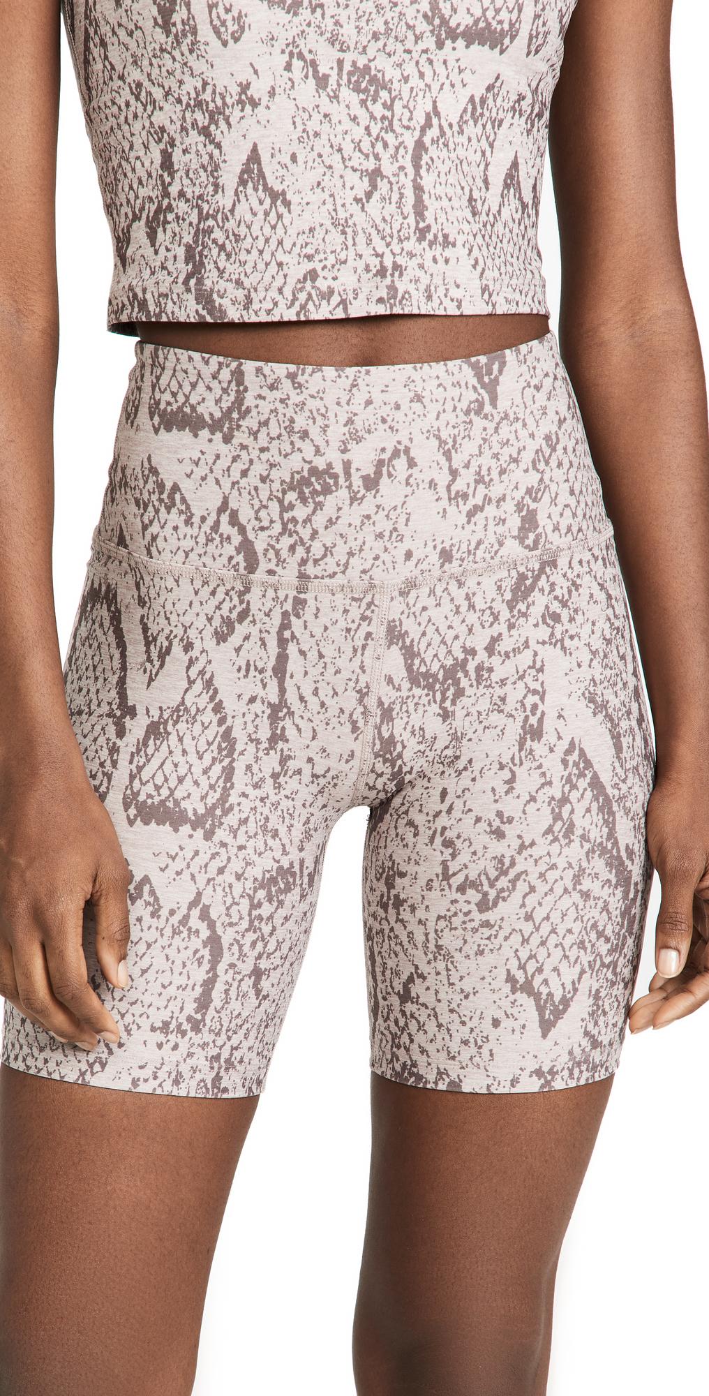 Beyond Yoga Spacedye Printed High Waisted Biker Shorts