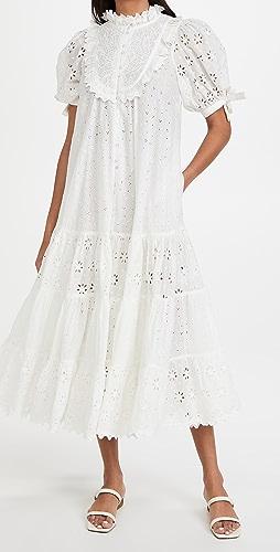 byTimo - Broderie Anglaise Midi Dress