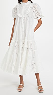 byTimo Broderie Anglaise Midi Dress