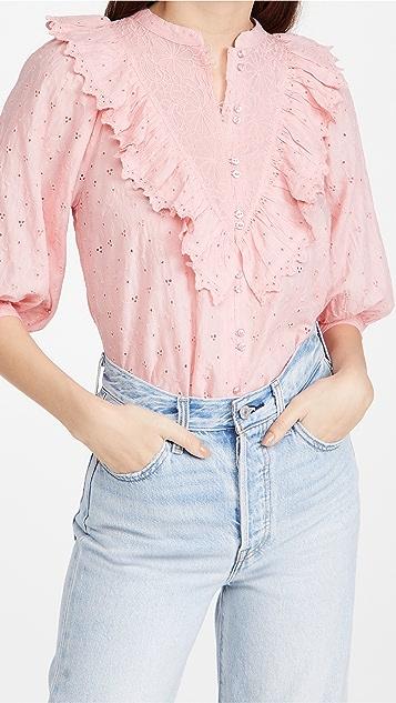 byTiMo 英格兰刺绣女式衬衫