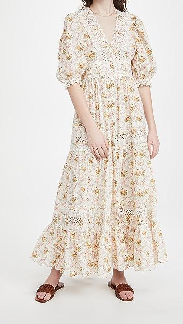 byTiMo 棉质竹节纹长裙
