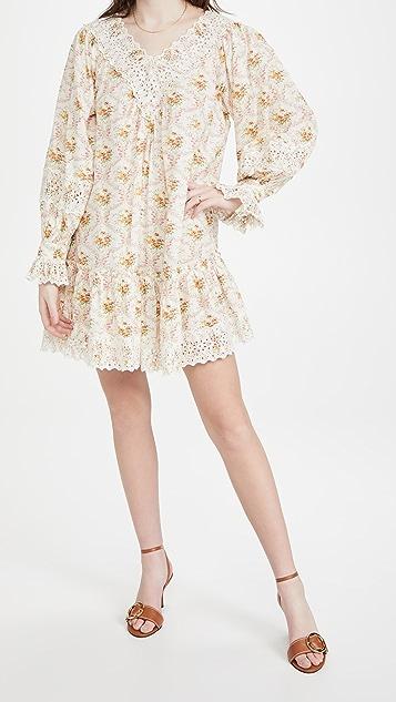 byTimo Cotton Slub V Neck Mini Dress