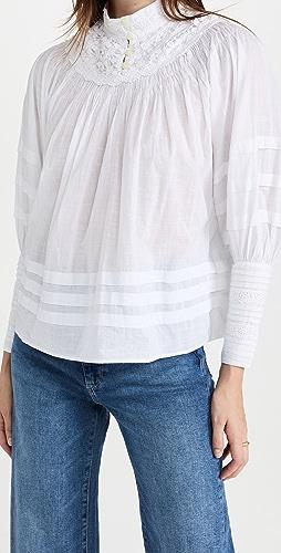 byTiMo - Cotton Slub Pleated Blouse