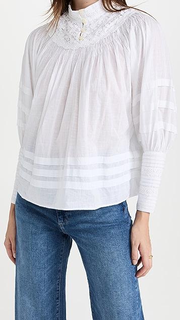 byTiMo Cotton Slub Pleated Blouse