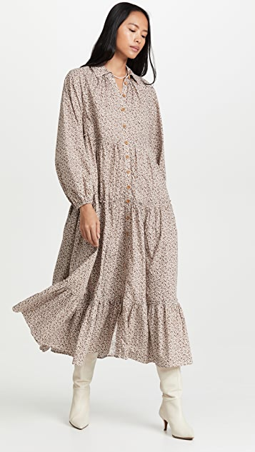byTiMo 50'S Cotton Button Down Dress