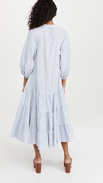 byTiMo Checks Caftan Dress