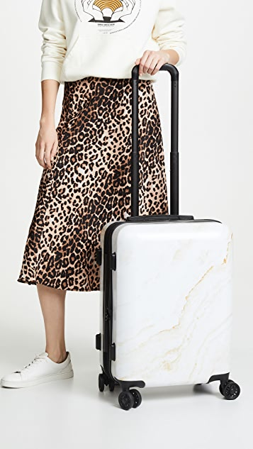 CALPAK Gold Marble Carry On Suitcase