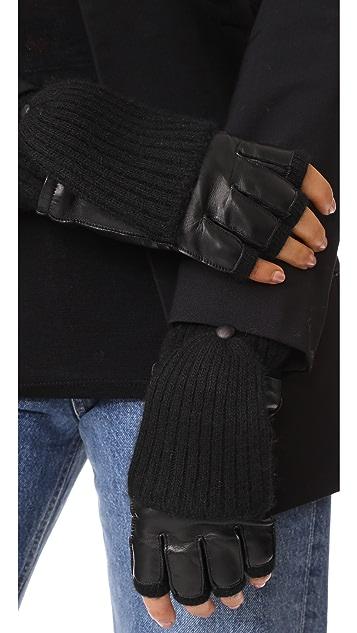 Carolina Amato 皮和开司米羊绒手套