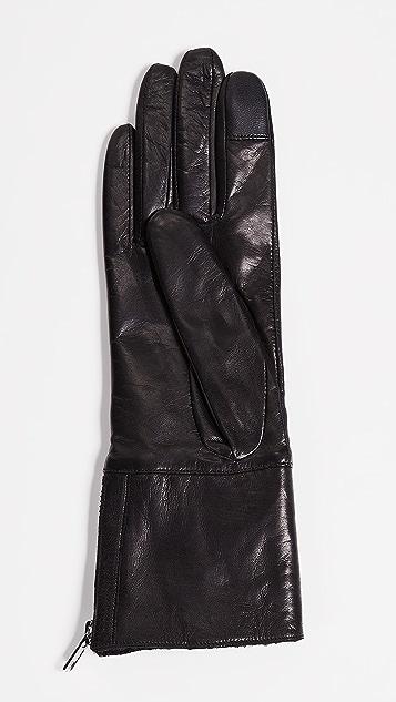 Carolina Amato Tech Leather Gloves