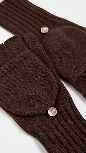 Carolina Amato Knit Texting Cashmere Mittens